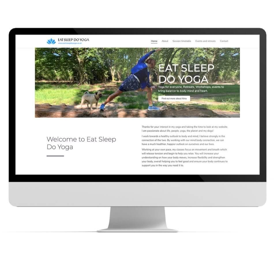 Eat Sleep Do Yoga website